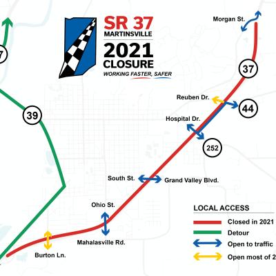 I-69 Local Access Map