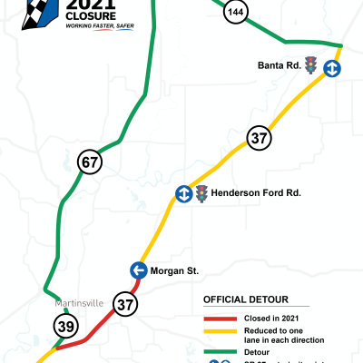 I-69 Official Detour Map